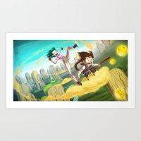 A Ride With Son Goku Art Print