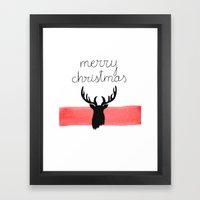 Christmas Time - Deer Ed… Framed Art Print
