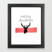 Christmas Time - Deer Ed… Framed Art Print
