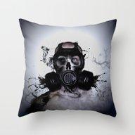 Zombie Warrior Throw Pillow