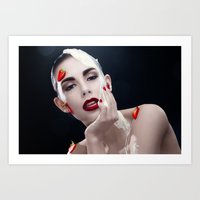 Strawberries & Cream Art Print