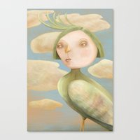 Green Crested Ladytoo Canvas Print