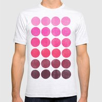 Color Play Pink Mens Fitted Tee Ash Grey SMALL