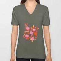 Floral Folk Unisex V-Neck