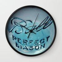 Mason Jar Wall Clock