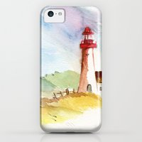 iPhone 5c Cases featuring Lighthouse Impressions by Jeff Moser Watercolorist