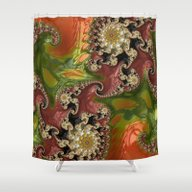 Psychedelic, Abstract, M… Shower Curtain