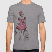 Frazzled Shopper Mens Fitted Tee Athletic Grey SMALL