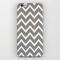 Gray & Ivory Chevron iPhone & iPod Skin