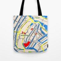 Amsterdam Map design Tote Bag