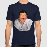 Dolphy Mens Fitted Tee Navy SMALL