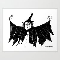 Witch dress up Art Print