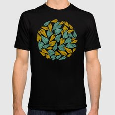 Autumn Wind SMALL Black Mens Fitted Tee