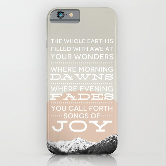 Psalm 65:8 iPhone & iPod Case