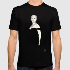 Black and Scarlett  SMALL Mens Fitted Tee Black
