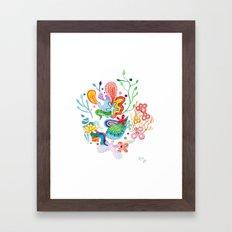 Aquatic Mood Framed Art Print