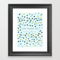 You make me wonder Framed Art Print