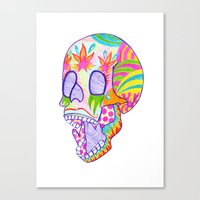 That's Skullarious. Canvas Print