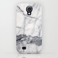 Galaxy S4 Cases featuring Carrara Marble by Santo Sagese