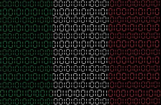 digital Flag (italian) Art Print