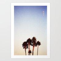 Sunset and Palms Art Print