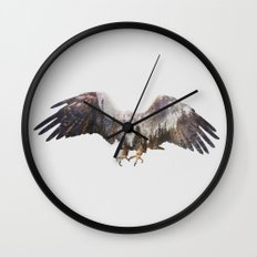 Arctic Eagle Wall Clock