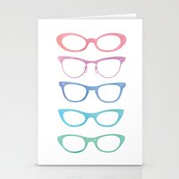 Colorful Vintage Sunglas… Stationery Cards