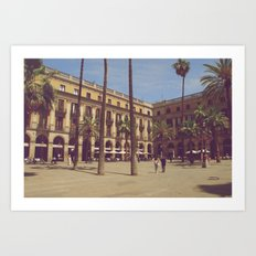 Plaça Reial Art Print