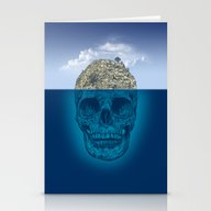 Stationery Cards featuring Skull Island by Rachel Caldwell