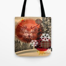 Christmas scene. Tote Bag