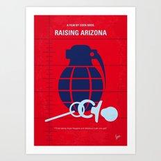 No477 My Raising Arizona minimal movie poster Art Print