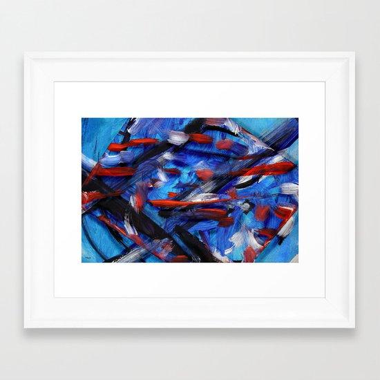 Acryl-Abstrakt 30 Framed Art Print