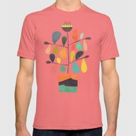 Potted Plant 4 Mens Fitted Tee Pomegranate SMALL