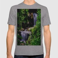 Chasing Waterfalls Mens Fitted Tee Athletic Grey SMALL