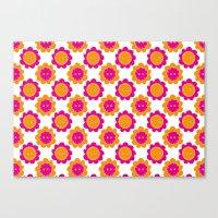Button Flowers Canvas Print