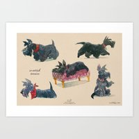 Scottish Terriers Art Print