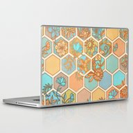 Golden Honeycomb Tangle … Laptop & iPad Skin