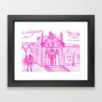 Building Sketch Framed Art Print