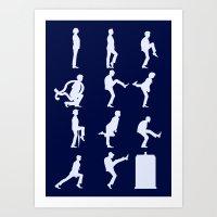 The TARDIS Of Silly Walk… Art Print