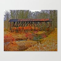 Cuppert's Covered Bridge Canvas Print