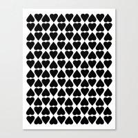 Diamond Hearts Repeat Bl… Canvas Print