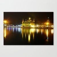 Golden Temple - By Rasmu… Canvas Print