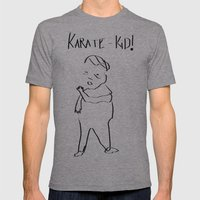 Karate Comic Mens Fitted Tee Athletic Grey SMALL
