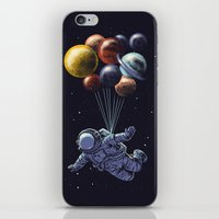 Space travel iPhone & iPod Skin
