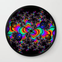 Psychedelic Space Wall Clock