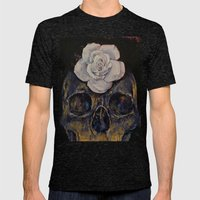 Dusty Rose Mens Fitted Tee Tri-Black SMALL