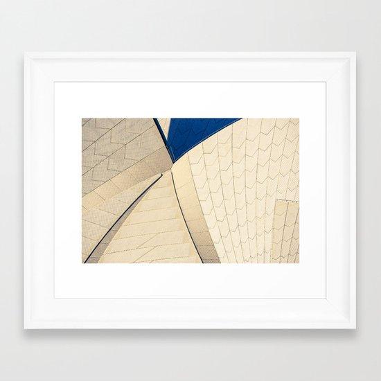 Opera House Tiles Framed Art Print