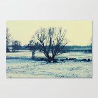 Winter  - JUSTART © Canvas Print