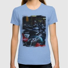 Motorcycles Womens Fitted Tee Athletic Blue SMALL