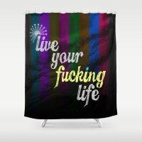 #YOLO Shower Curtain